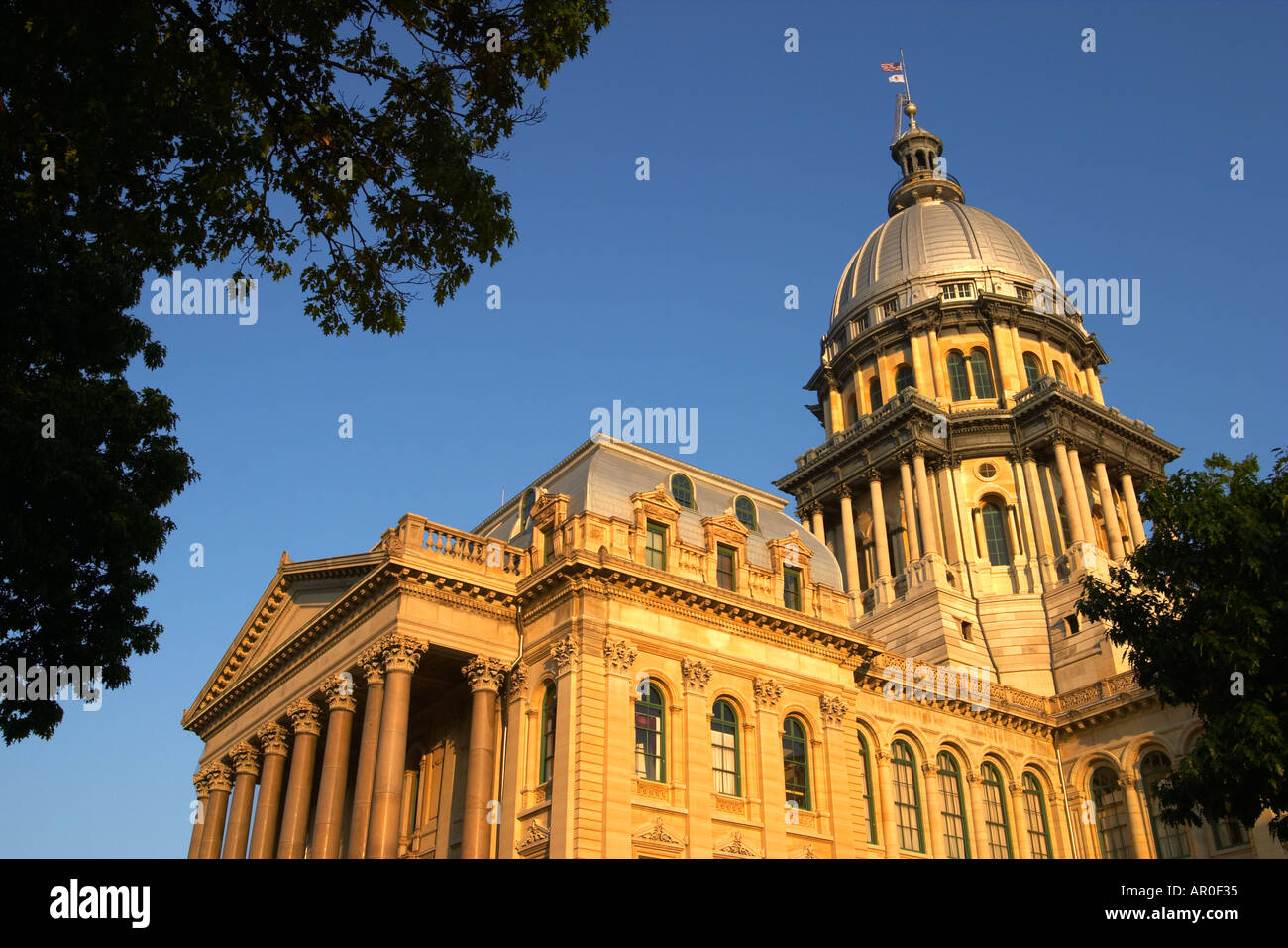 ILLINOIS Springfield Capitol Building large dome opened in 1877 Stock Photo