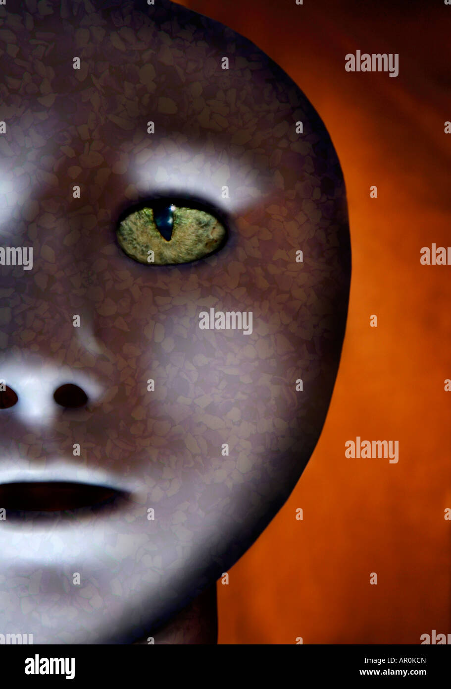 Alien Face. - Stock Image