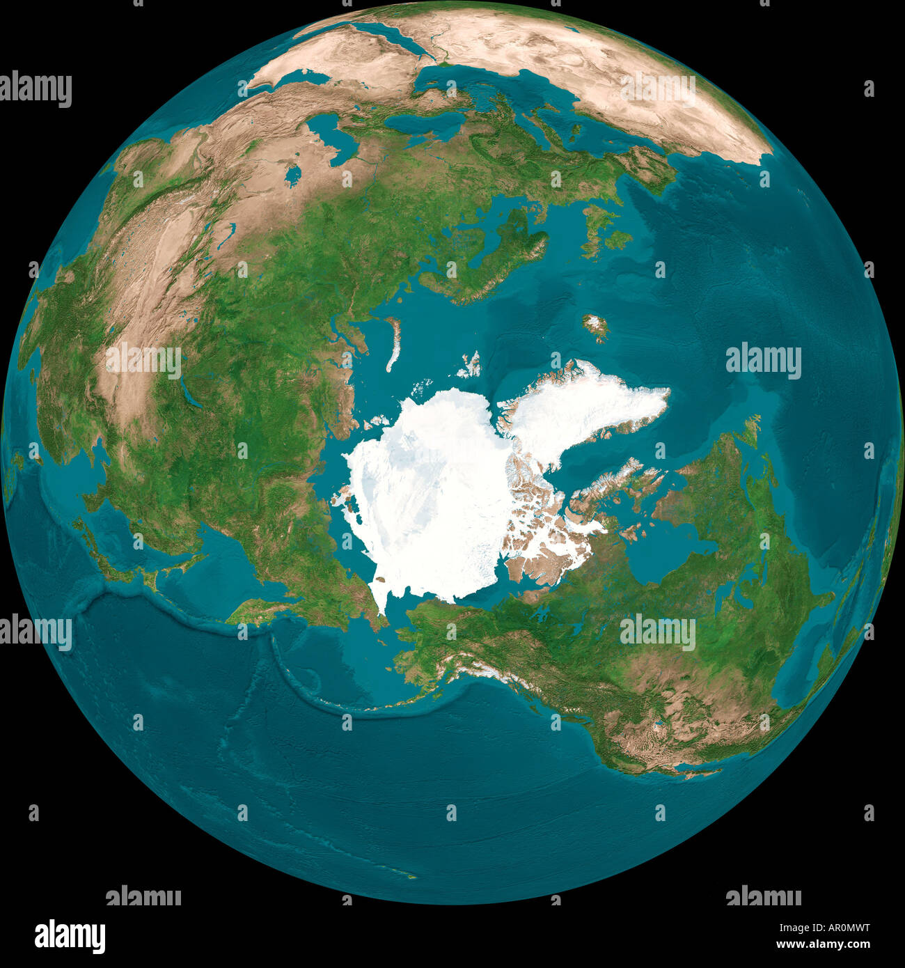 Aerial Globe of Earth From Top of the World Stock Photo: 15900275