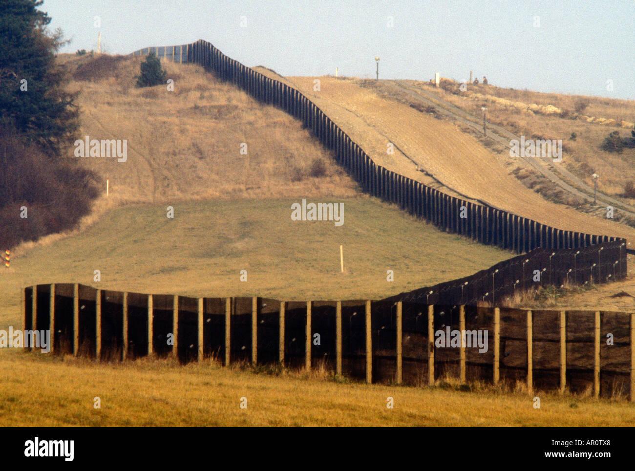 Iron Curtain in Bavaria Germany - Stock Image