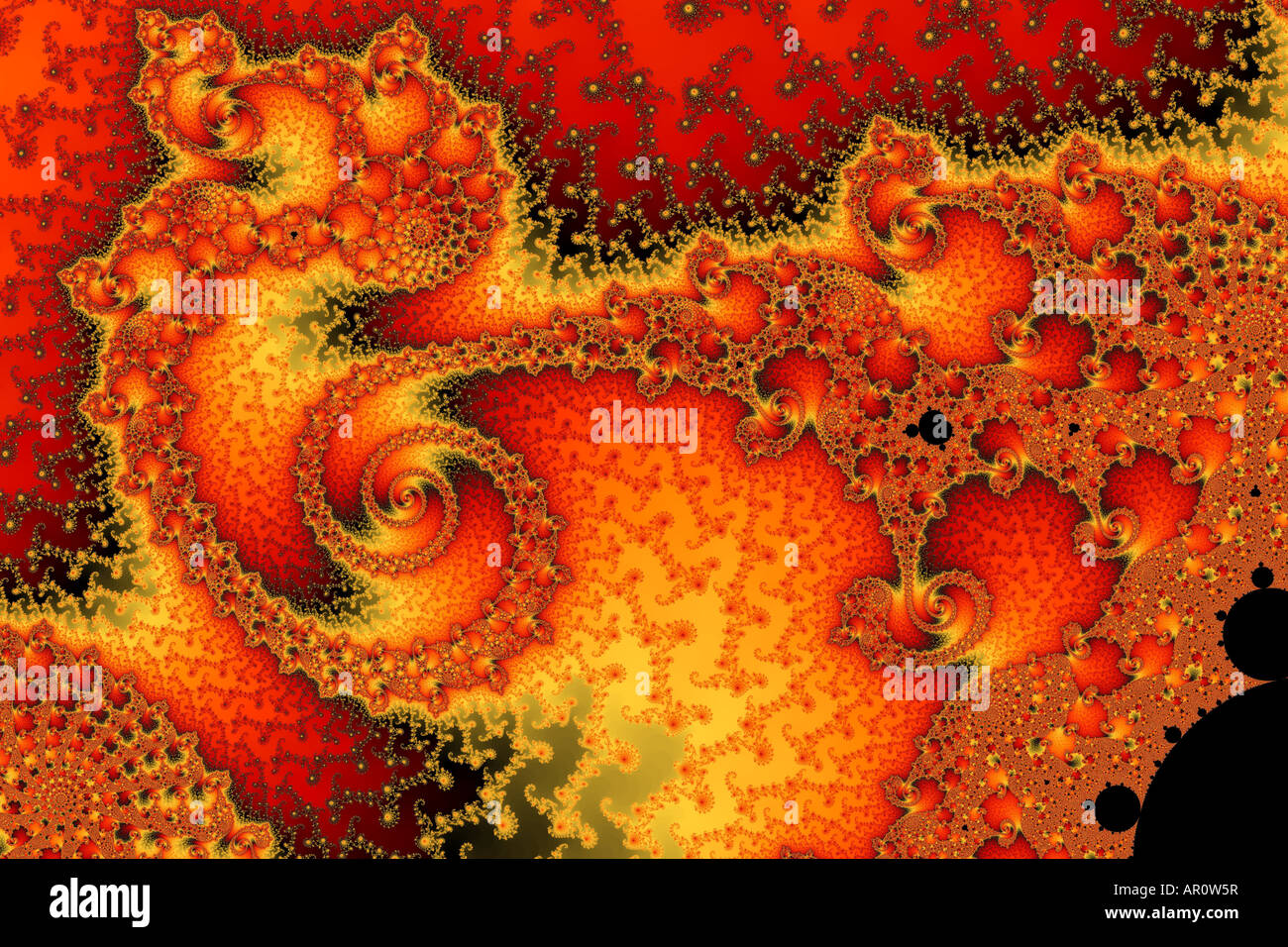 This fractal is beautiful, yet utter chaos! Stock Photo