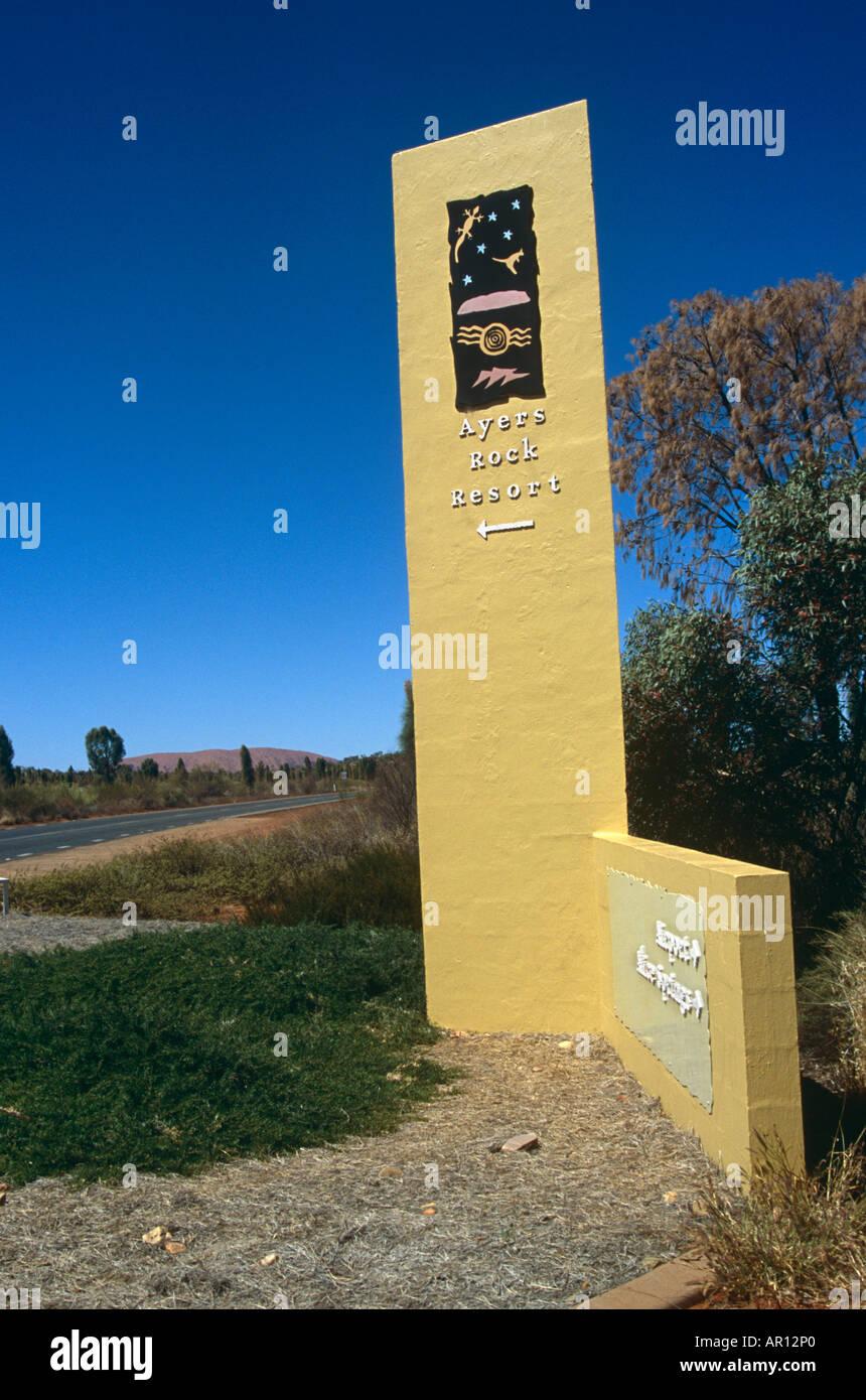 Ayers Rock Resort Sign Yulara Mount Uluru Kata Tjuta