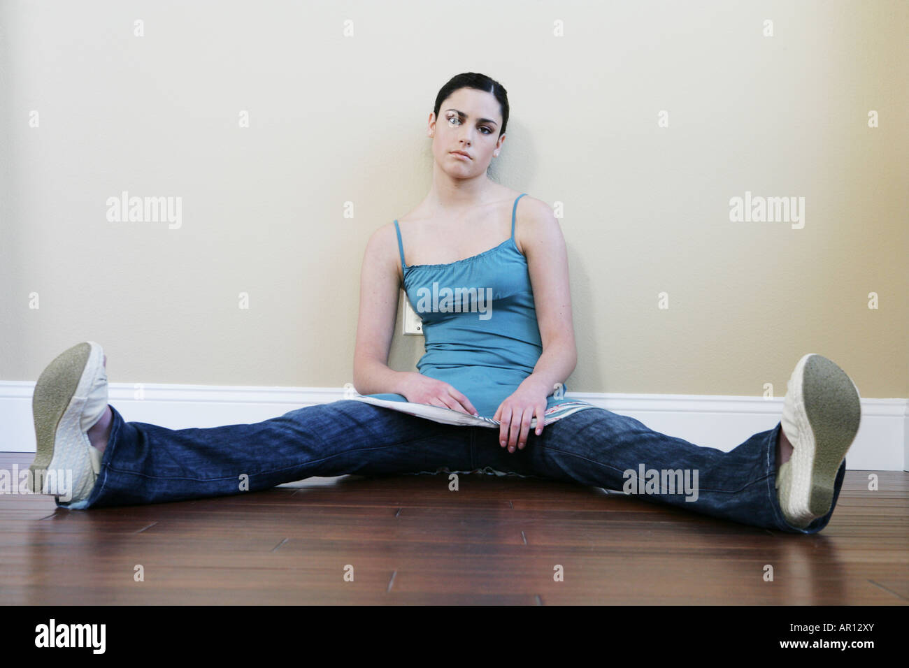 Woman Sitting With Legs Wide Open Stock Photos  Woman -9638