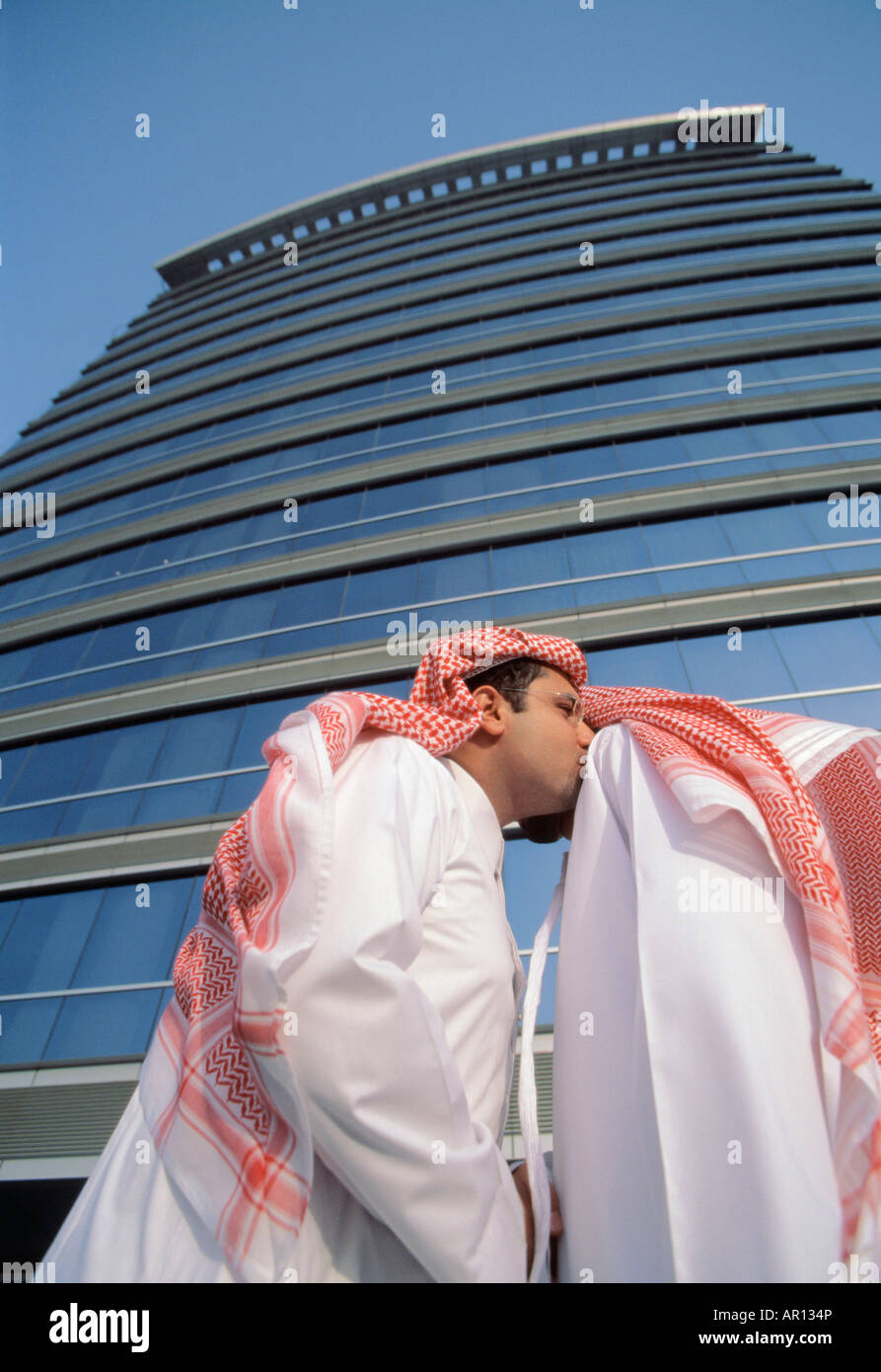 Arab men greeting each other stock photo 15903717 alamy arab men greeting each other m4hsunfo