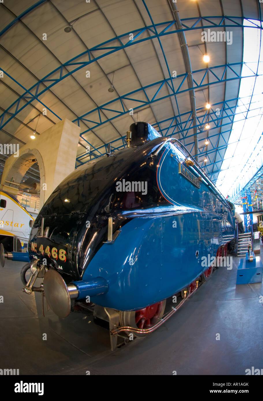 The Mallard train at the National Railway Museum NRM York - Stock Image