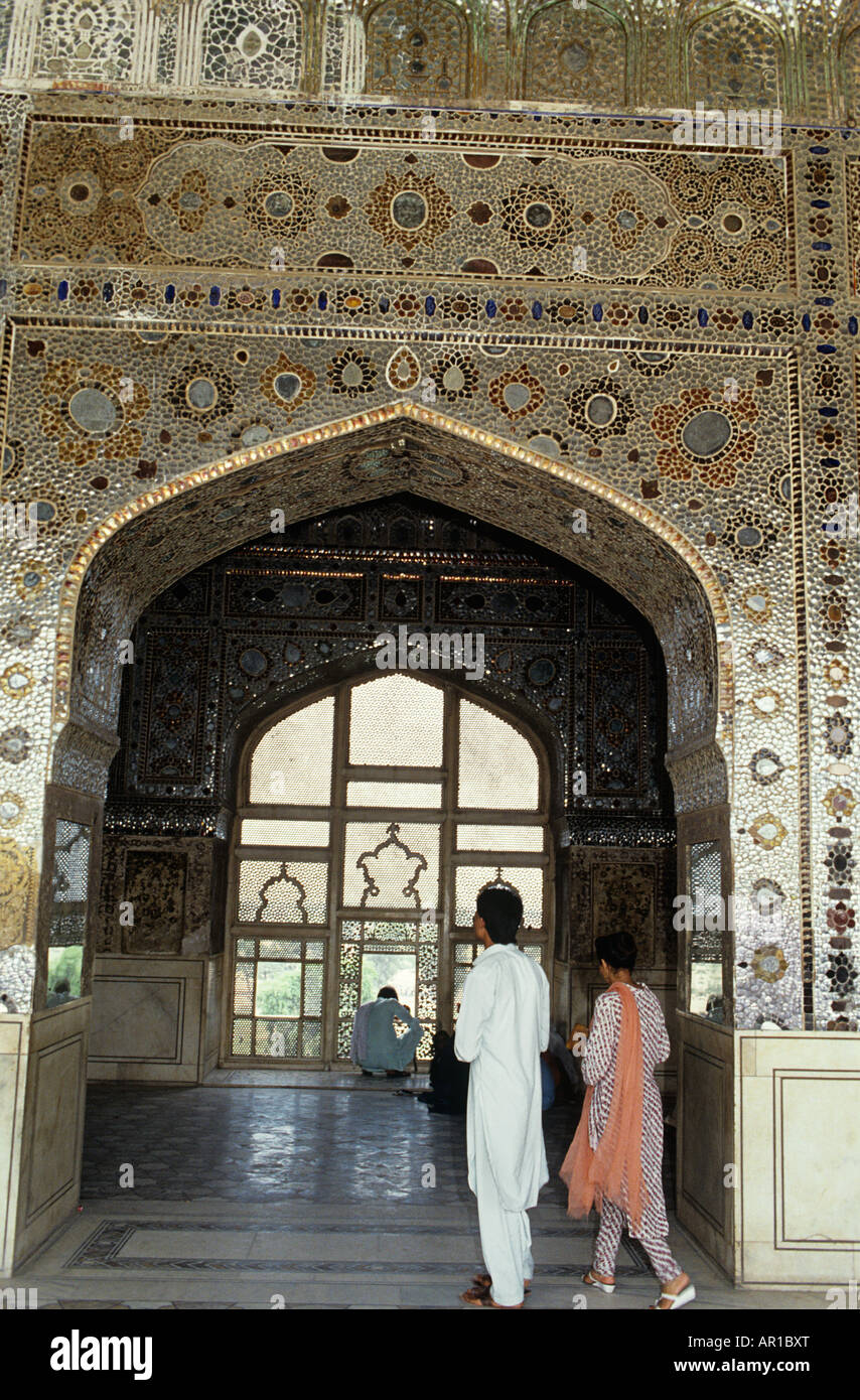 Lahore Fort, Shish Mahal built by Emperor ShahJahan in 1631.Jewel encrusted Palace of Mirrors.Koh-i-Noor taken by - Stock Image