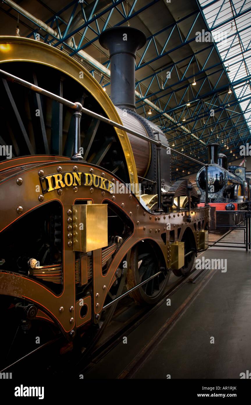 Iron Duke steam engine at the National Railway Museum NRM York - Stock Image
