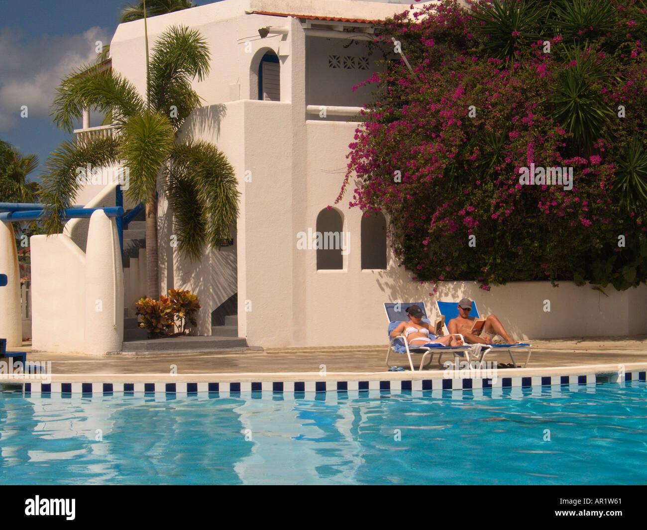 Jolly Beach Resort Antigua Caribbean - Stock Image