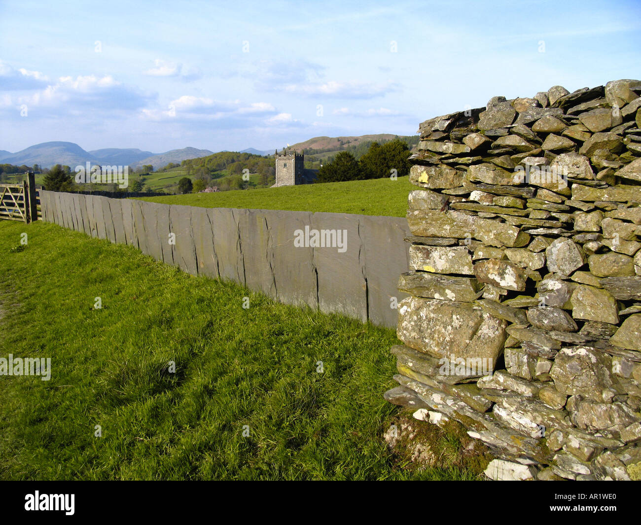 Natural material for walling - Stock Image