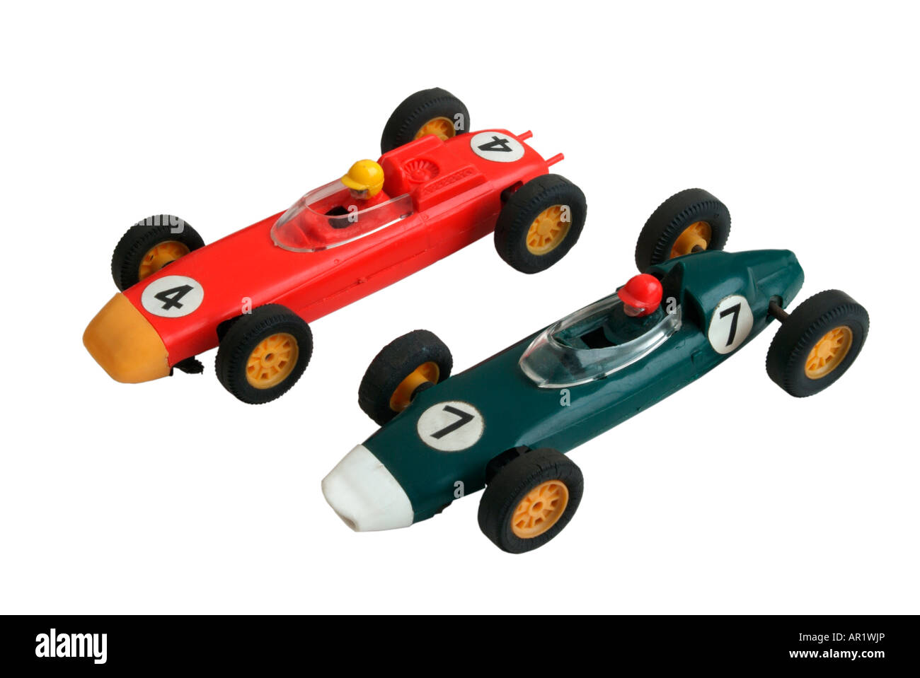 Two 1960's Tri-ang Scalextric racing cars Stock Photo