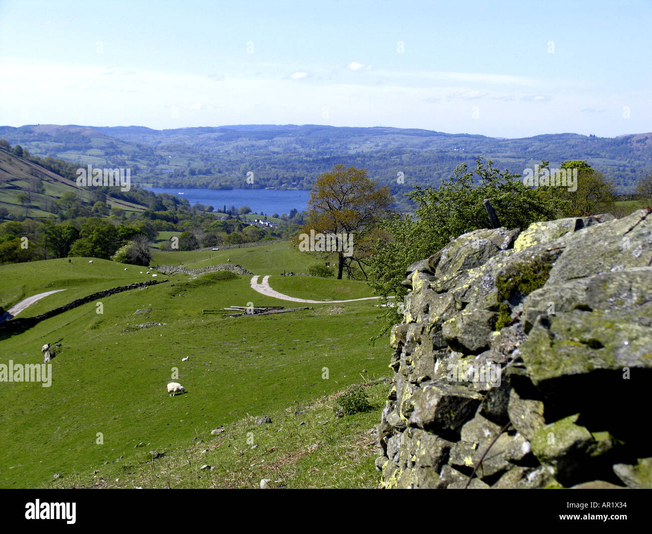 Old Wagoners route Lake District National Park Cumbria UK Stock Photo