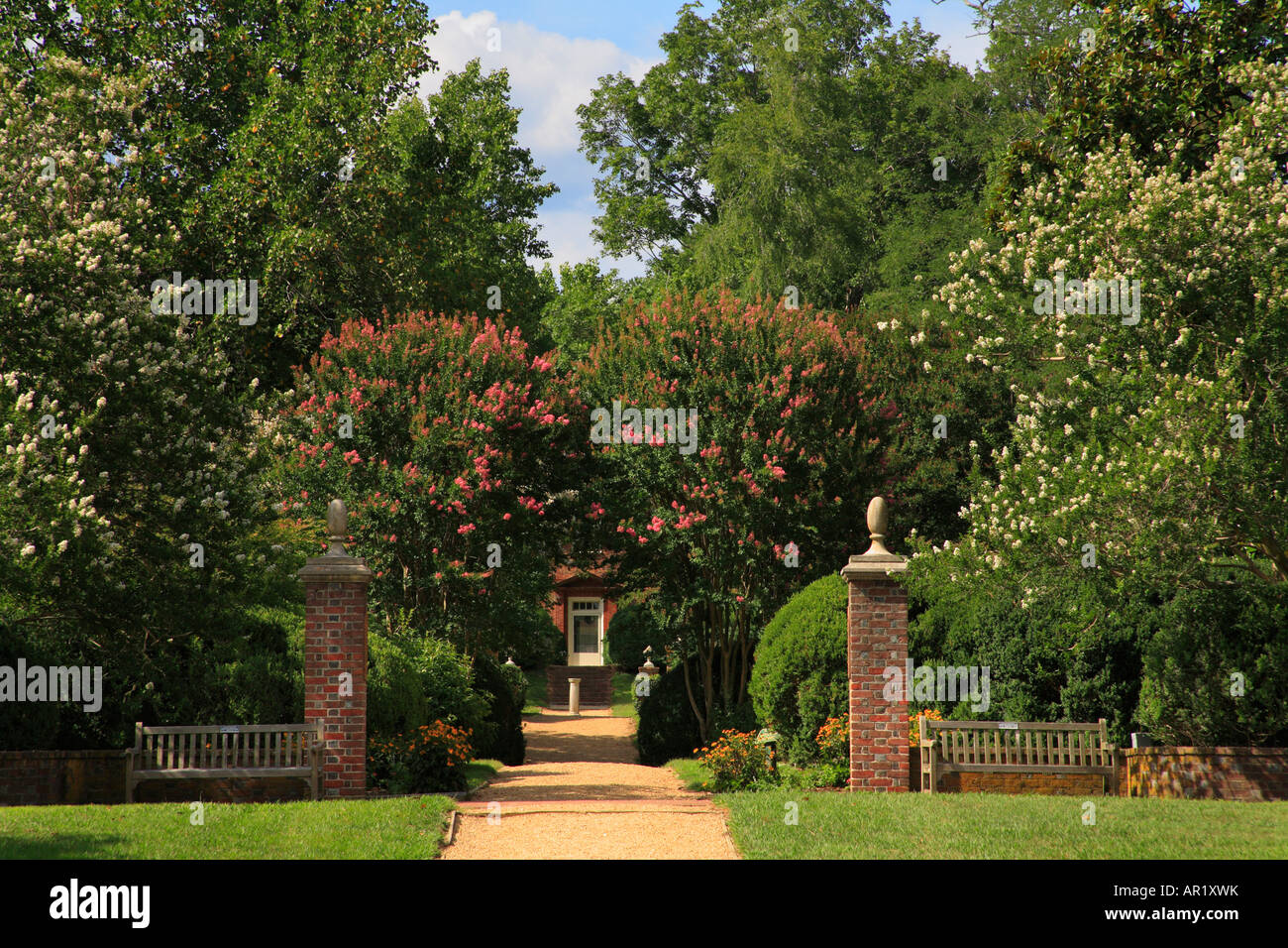 Garden, Berkeley Plantation, Charles City, Virginia, USA Stock Photo ...