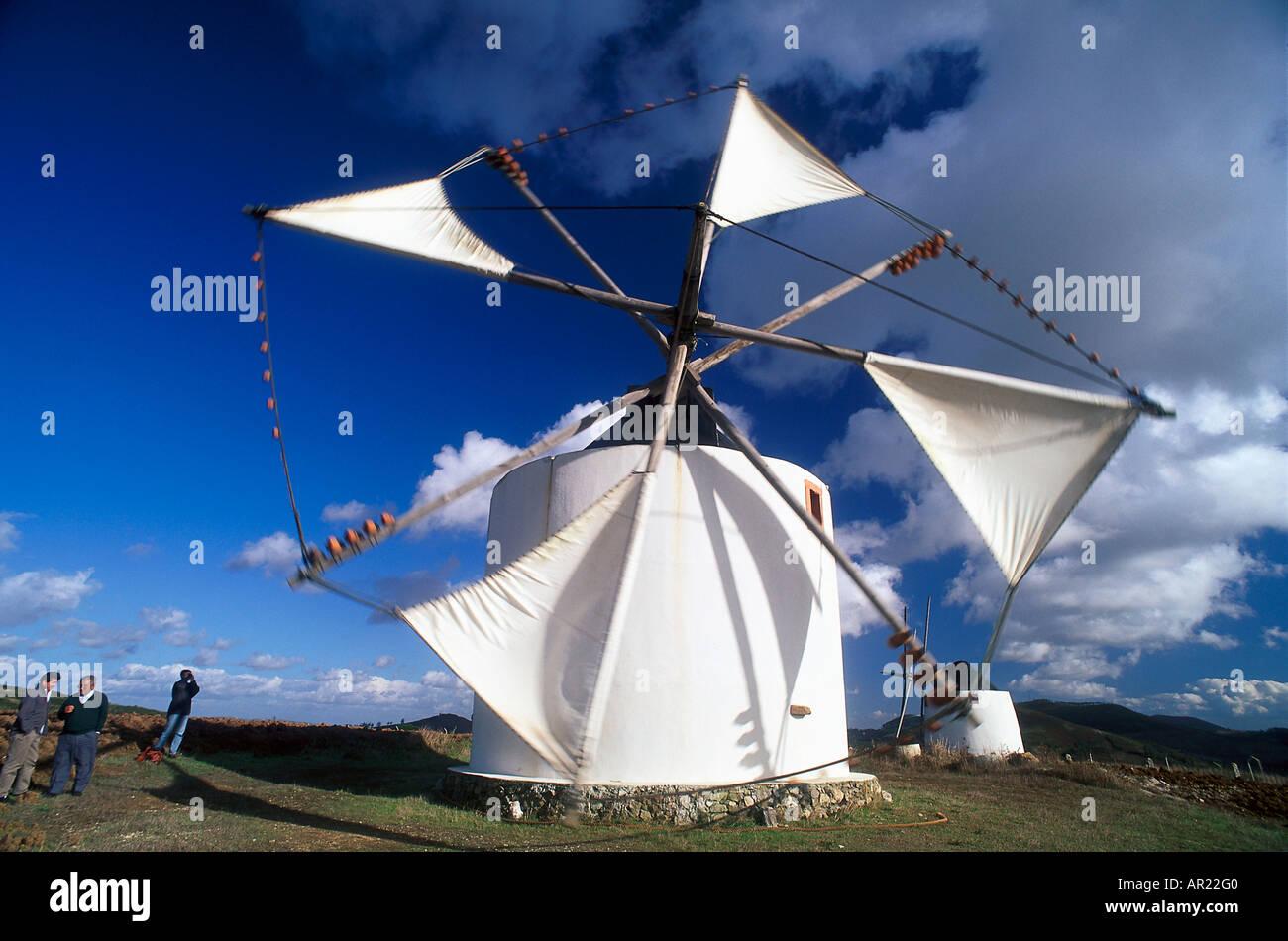 Windmill, Peniche Portugal - Stock Image