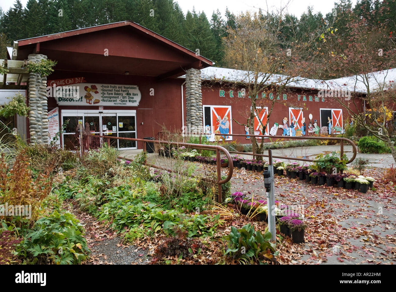Remlinger Farms Store Carnation Washington Stock Photo Alamy