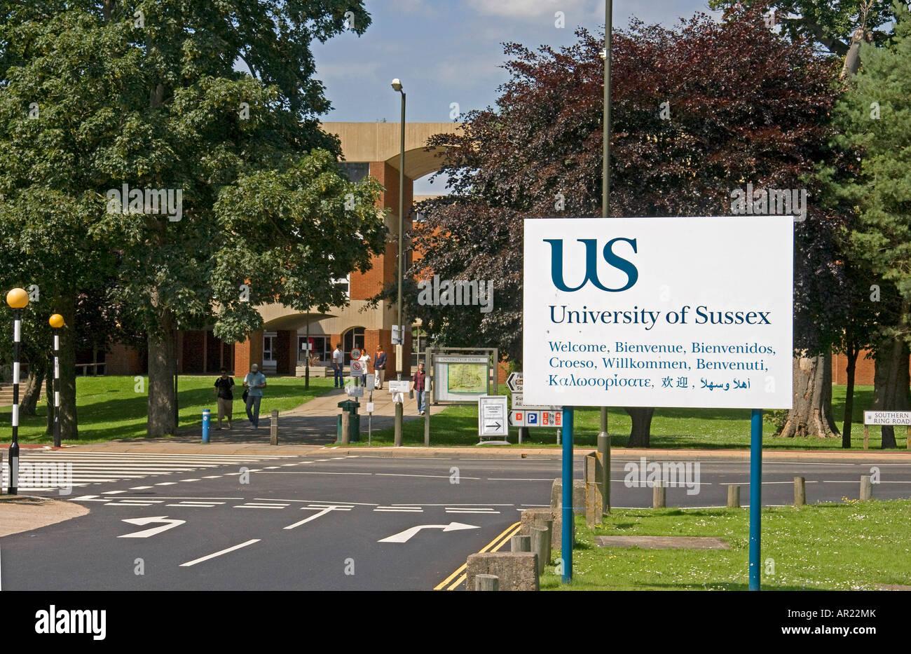 University Sussex Campus Falmer House Stock Photos