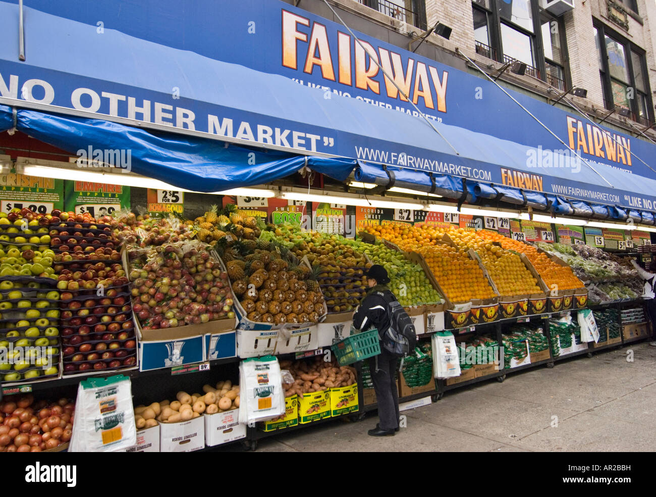 Fairway Market on the Upper West Side of Manhattan - Stock Image