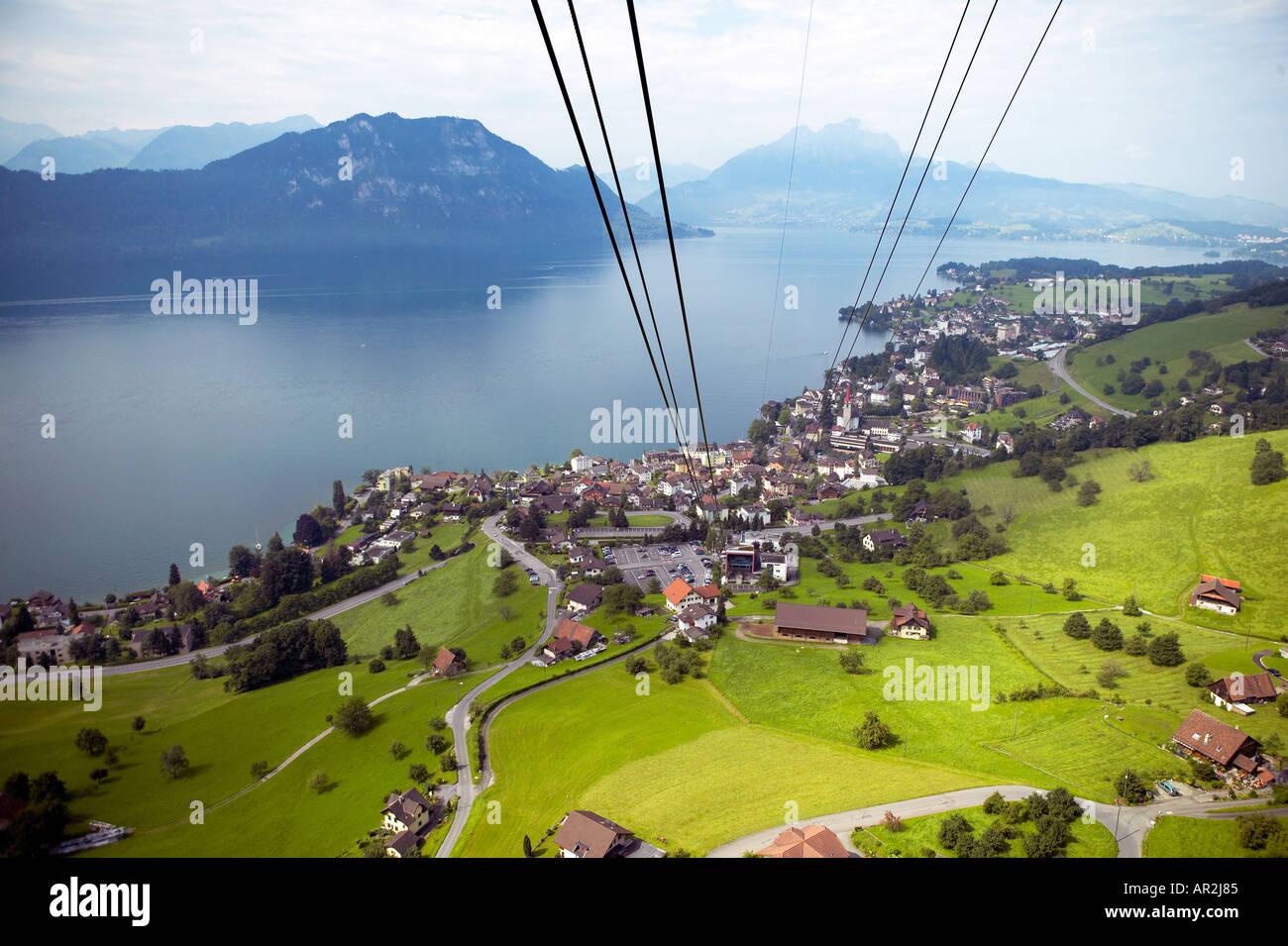 cable car mt rigi lake lucerne switzerland stock photo 5196420 alamy