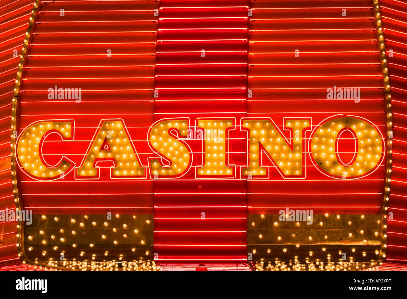 Casino neon sign downtown Las Vegas Nevada - Stock Image