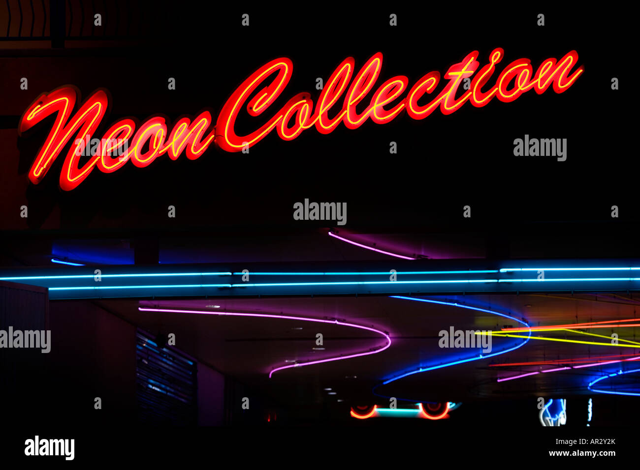 Neon Collections sign downtown Las Vegas Nevada - Stock Image