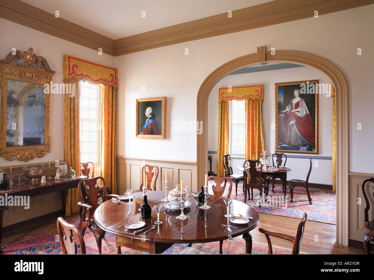 Dining Room At Birthplace Of Robert E. Lee   Stratford Hall, Westmoreland  County, Virginia, USA
