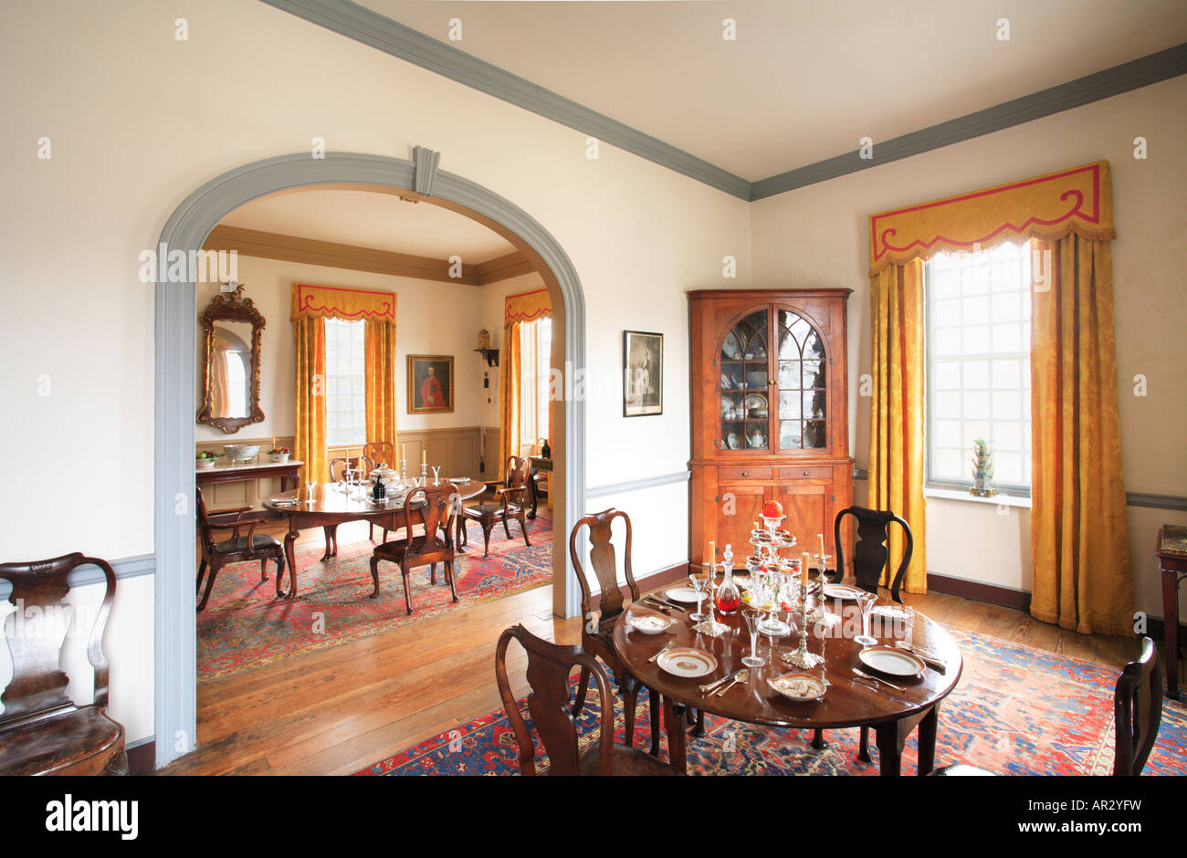 Cherry Tree Room At Birthplace Of Robert E. Lee   Stratford Hall,  Westmoreland County, Virginia, USA