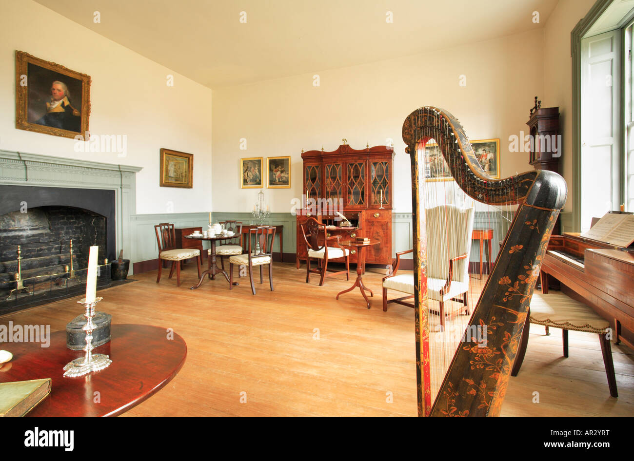 Music Room At Birthplace Of Robert E. Lee   Stratford Hall, Westmoreland  County,