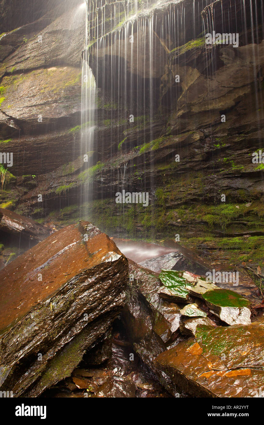 waterfall in Fall Hollow, Natchez Trace Parkway, Tennessee USA - Stock Image