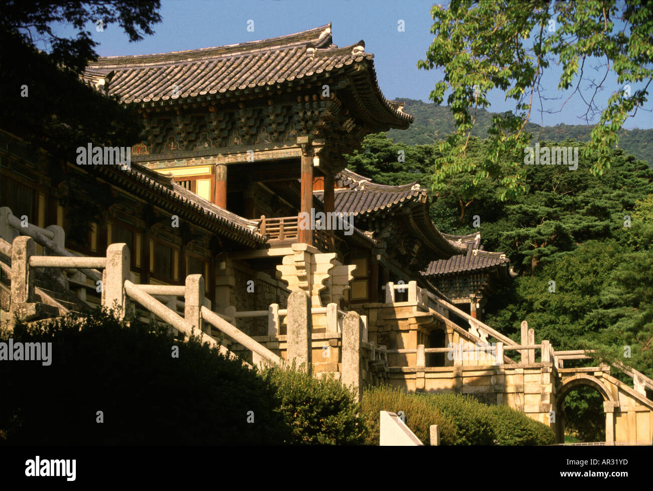 Pulguk-sa temple UNESCO world heritage, Geongju, Geongju, South Korea Asia - Stock Image