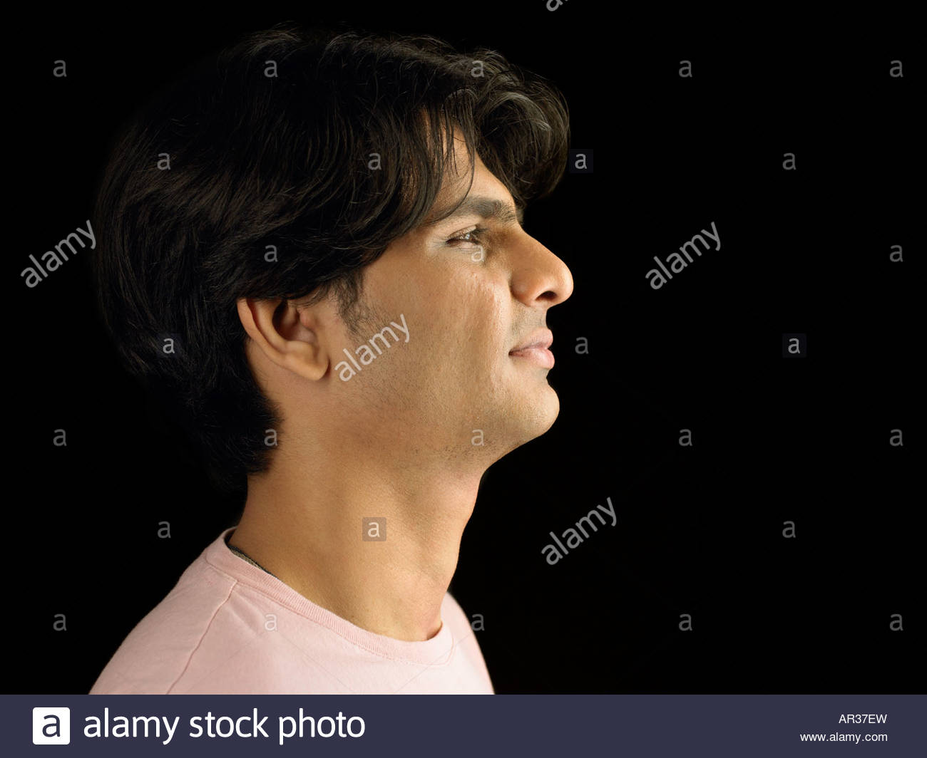 Man grimacing - Stock Image