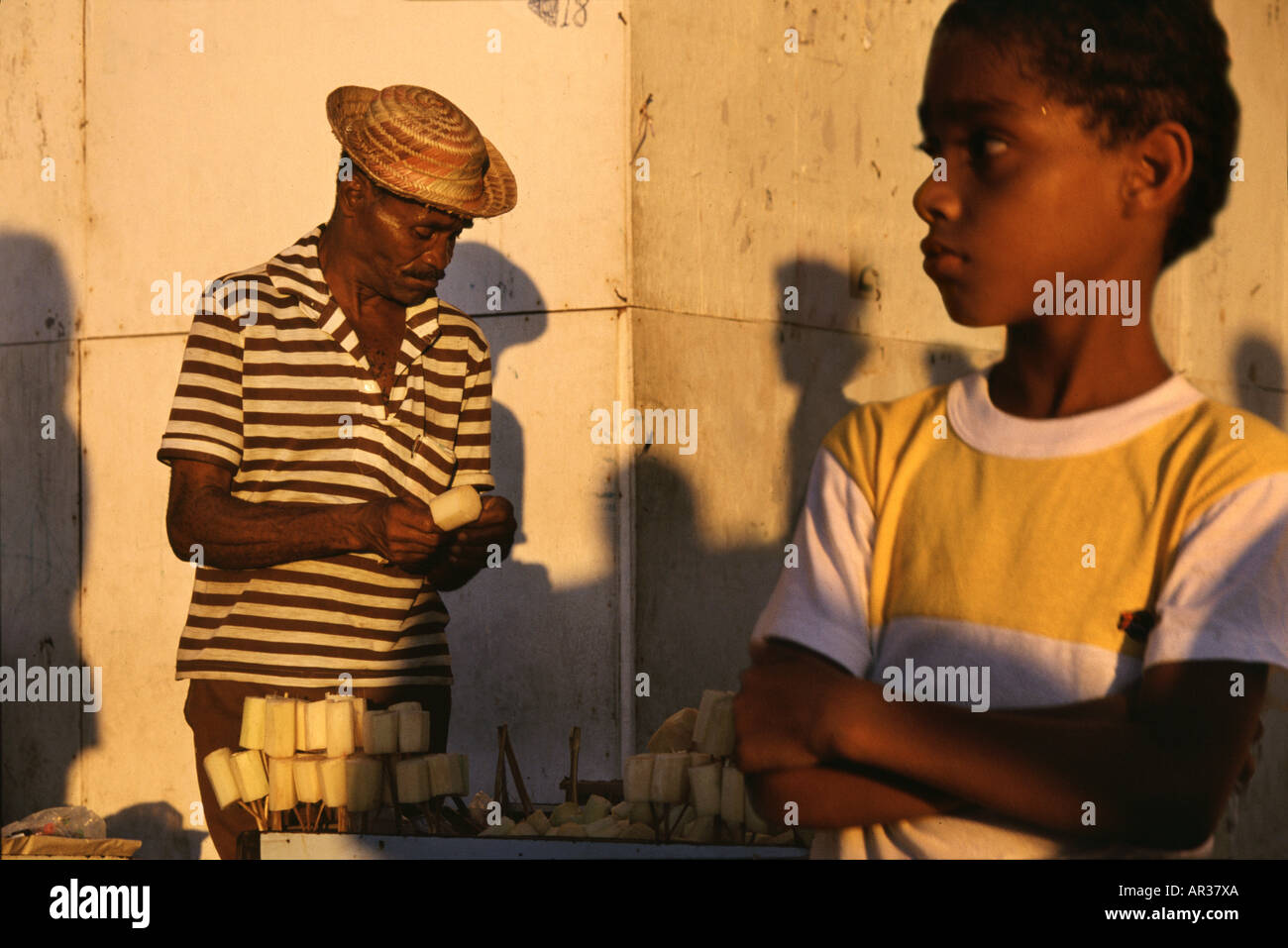 Sugarcane vendor in Rio, Rio de Janeiro, Brazil South America - Stock Image