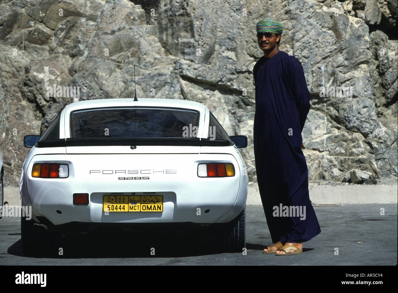 Omani With Porsche Muscat Oman Middle East Stock Photo 9100467
