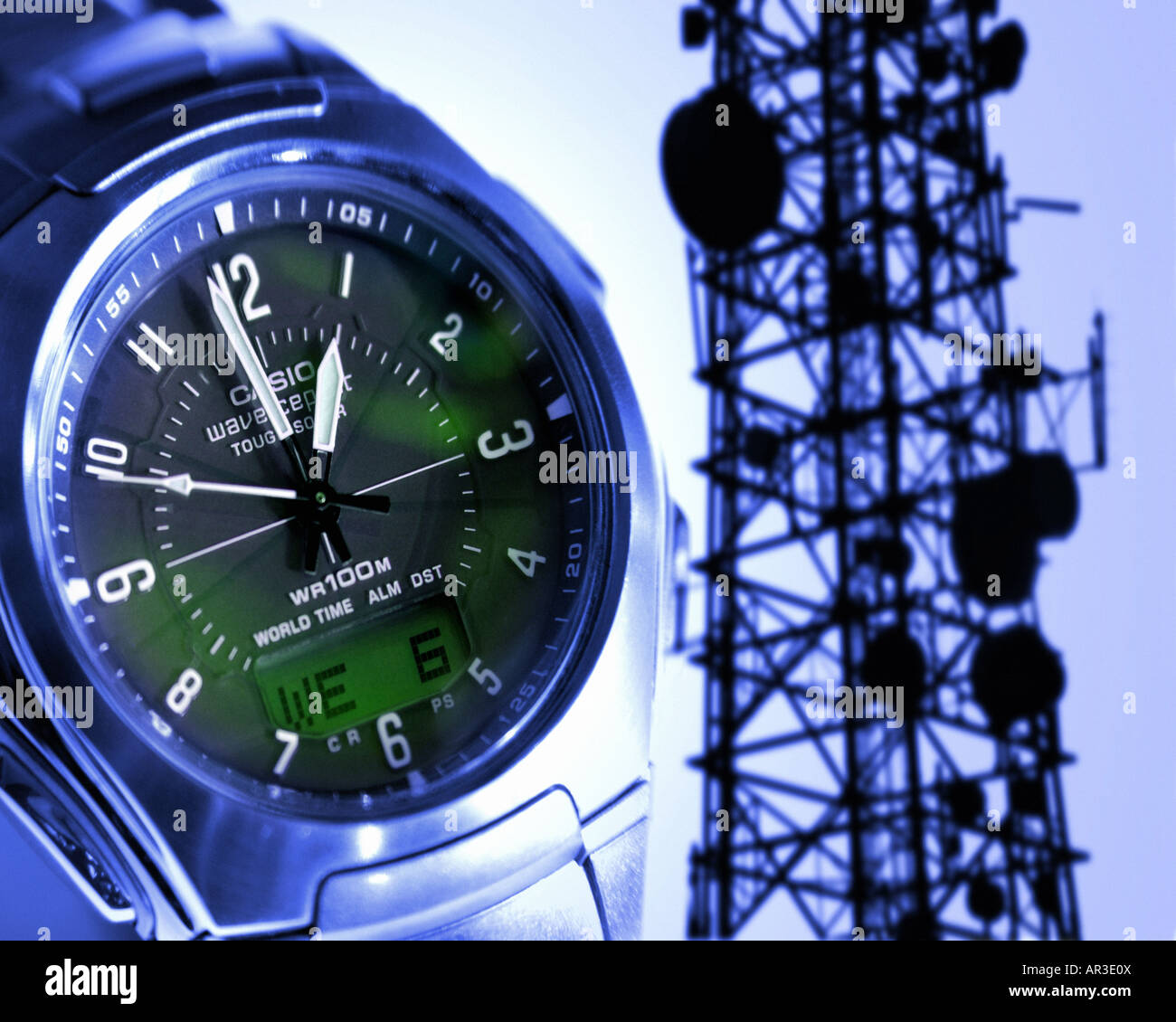 TIME CONCEPT: Radio Controlled Time - Stock Image