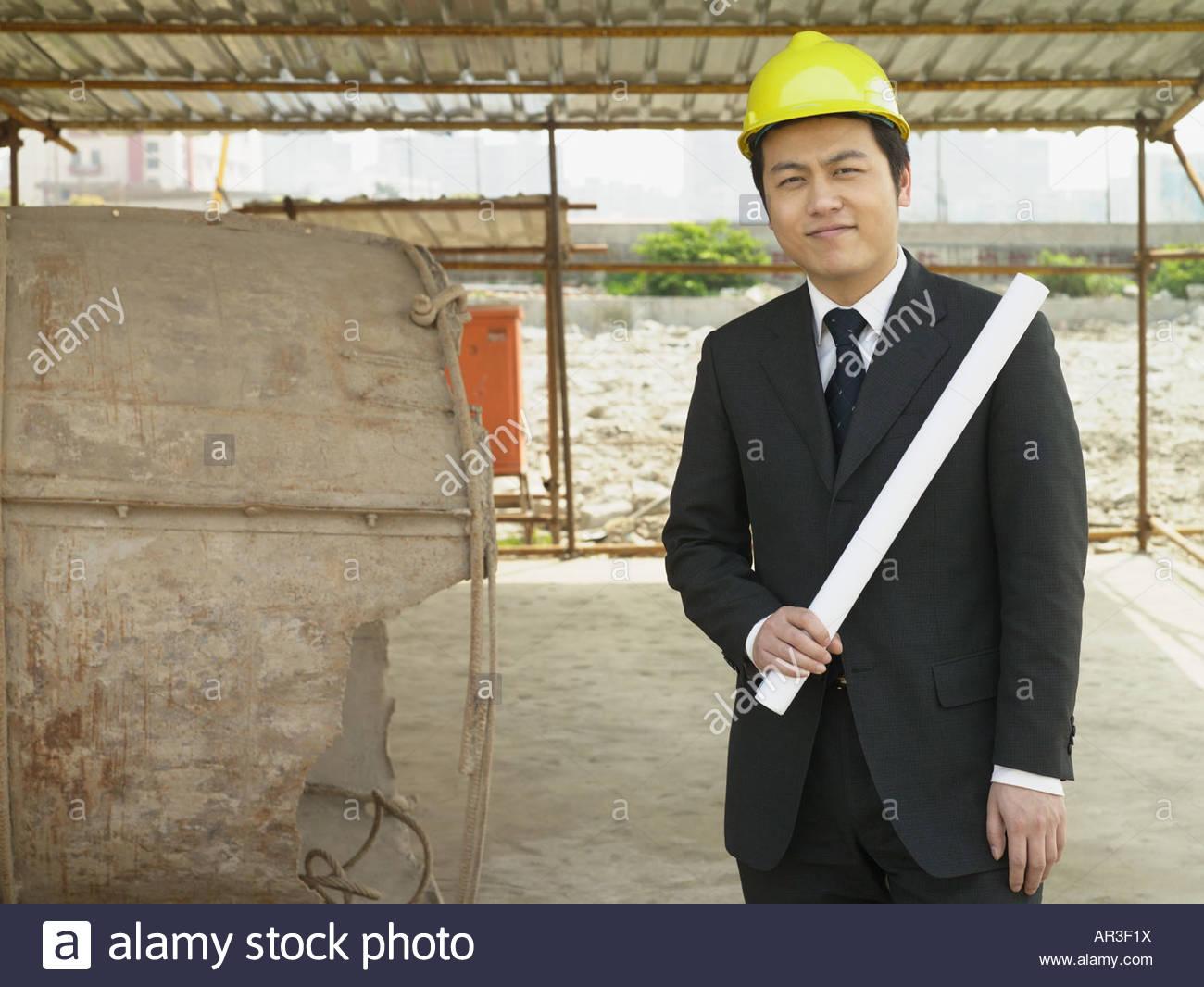 Architect on site - Stock Image