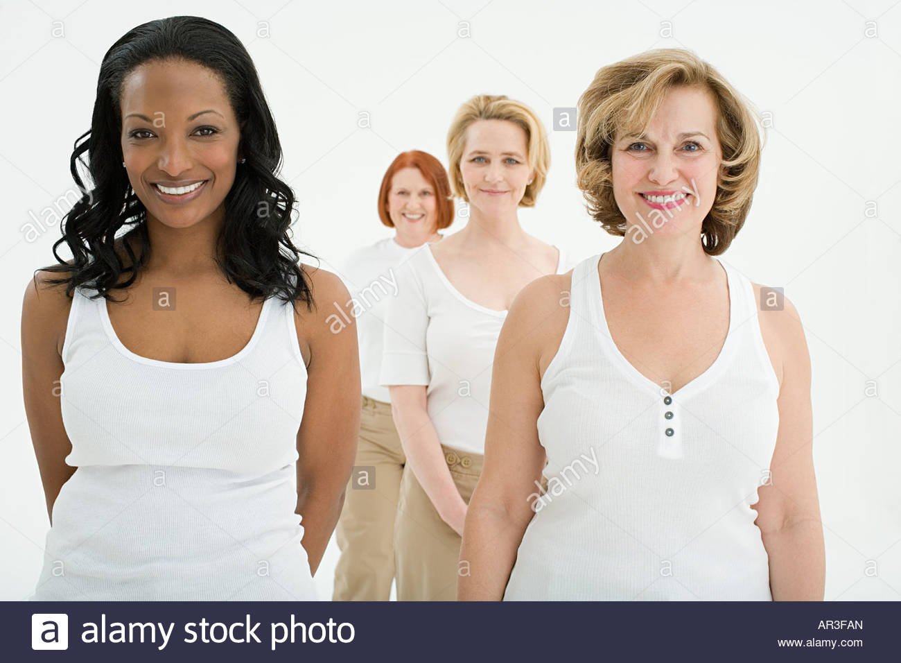 Portrait of women - Stock Image