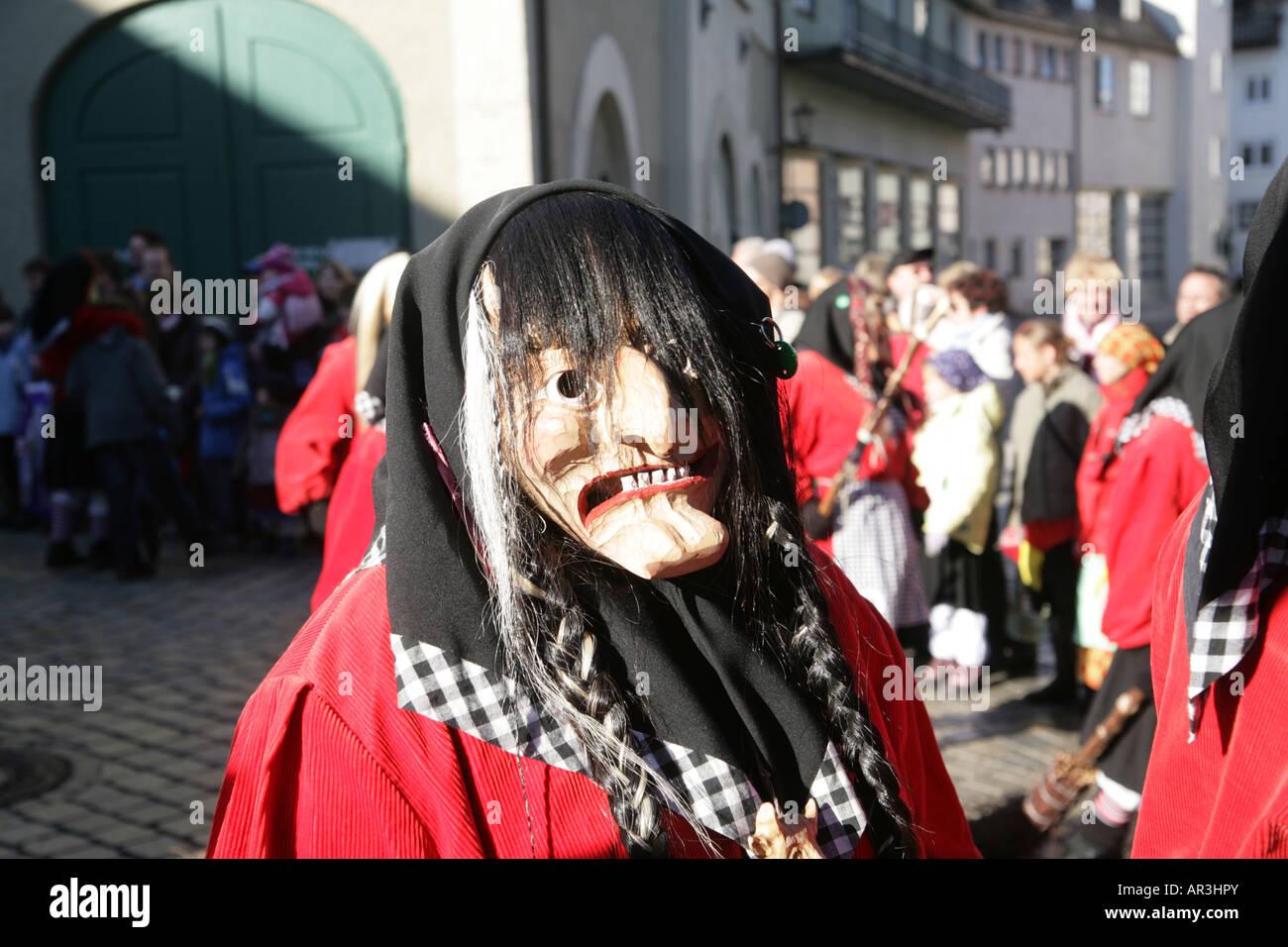 Swabian Alemannic carnival in Leutkirch South Germany Schwäbisch - Stock Image
