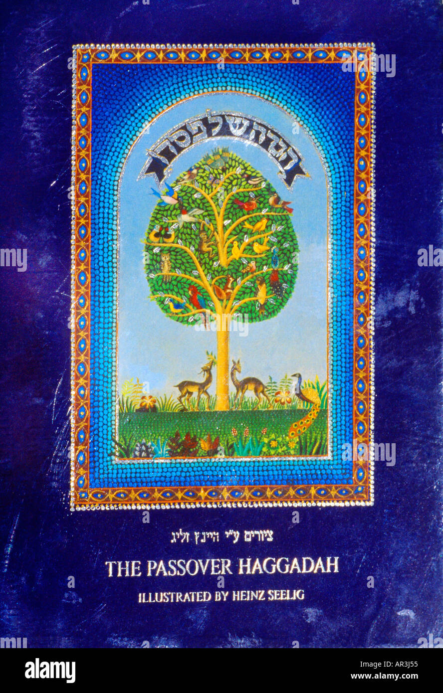 Passover Haggadah Judaism  Illustrations By Heinz Sealig - Stock Image