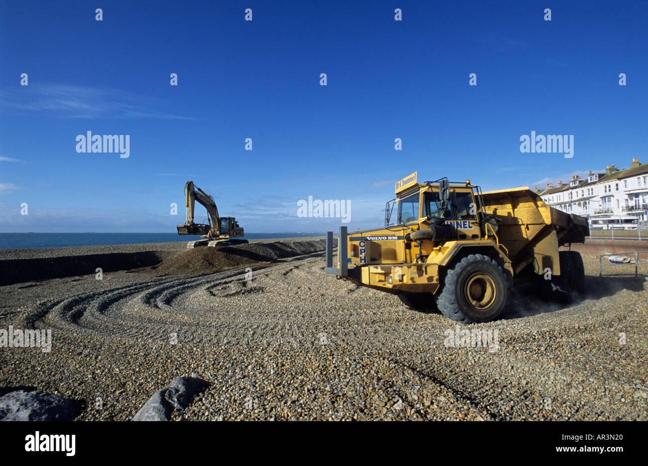 Beach management Hythe Kent UK Stock Photo