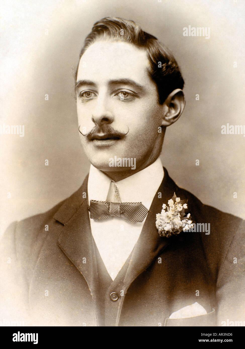 Victorian Gentleman Portrait Old Photograph Stock Photo