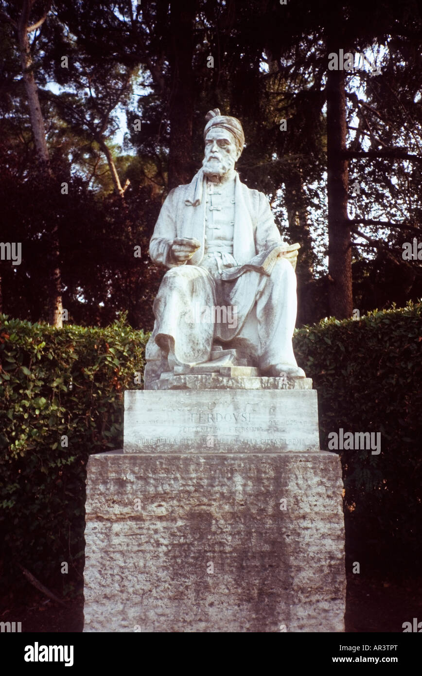 Monument to Firdusi in Piazzale Firdusi, Rome - Stock Image