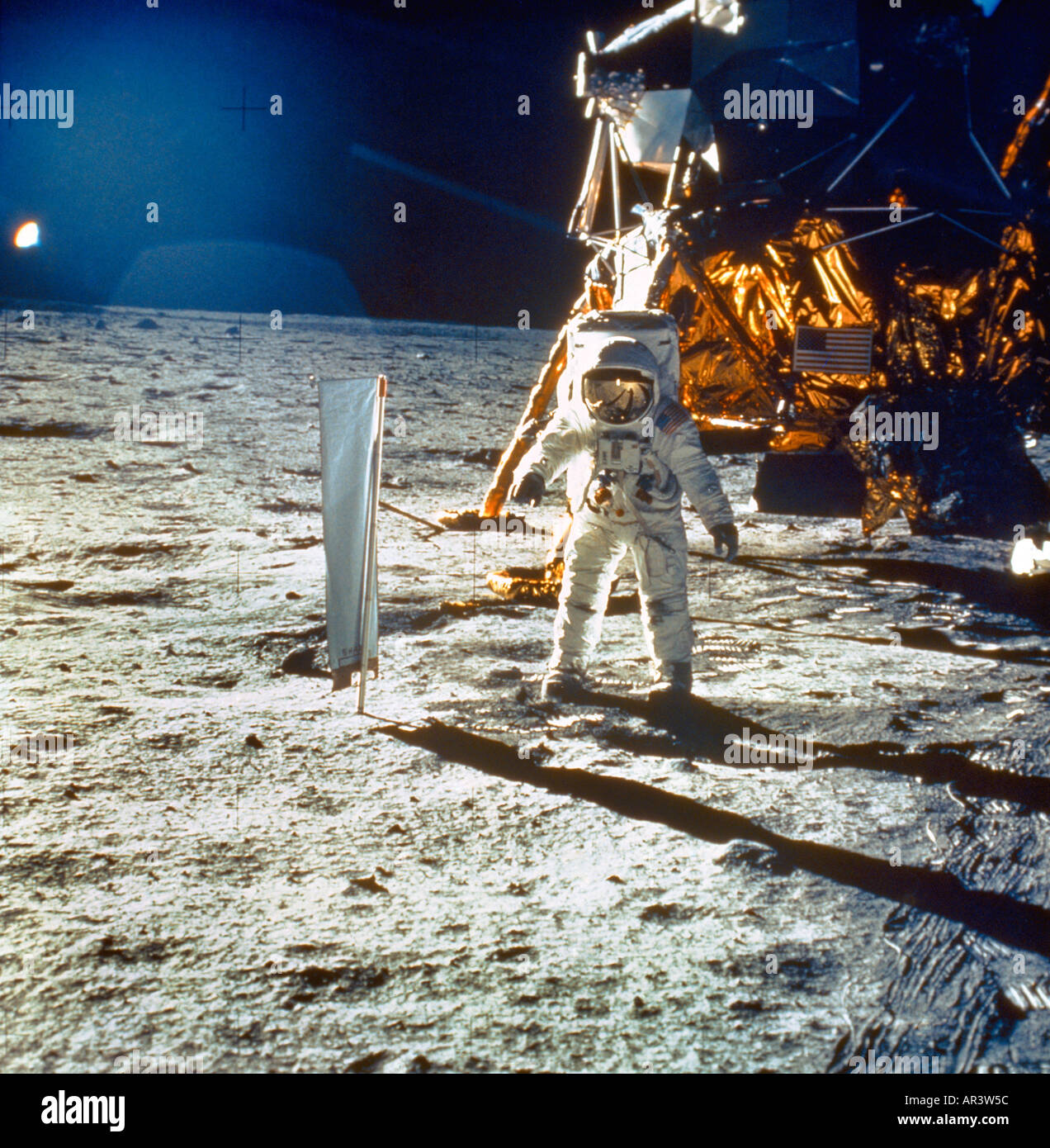 Man On The Moon Neil Armstrong Stock Photo