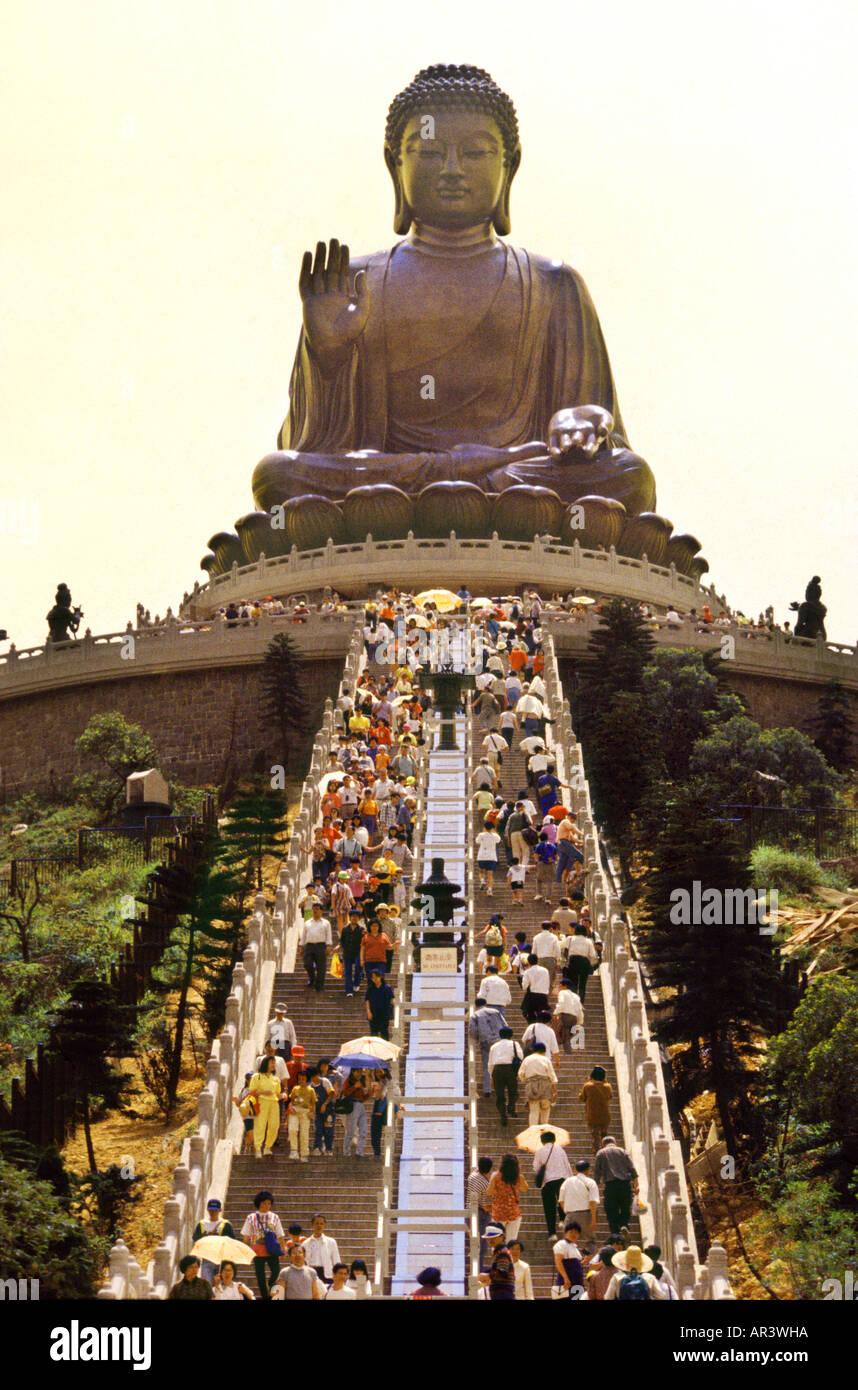 Buddha, Po Lin Monastery, Lantau Island, Hongkong, China - Stock Image