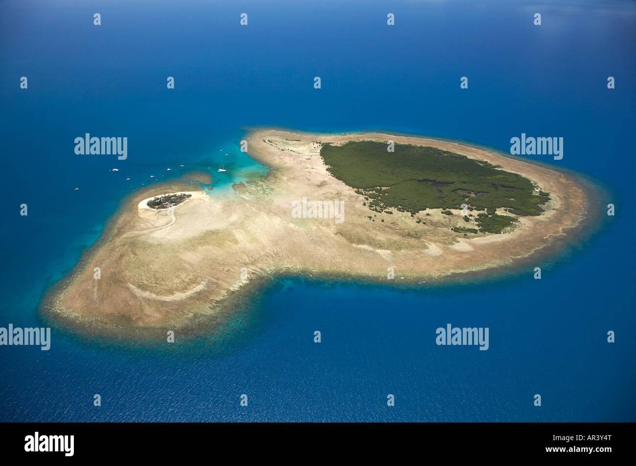 Low Isles Reef In Shape Of Map Of Australia Great Barrier