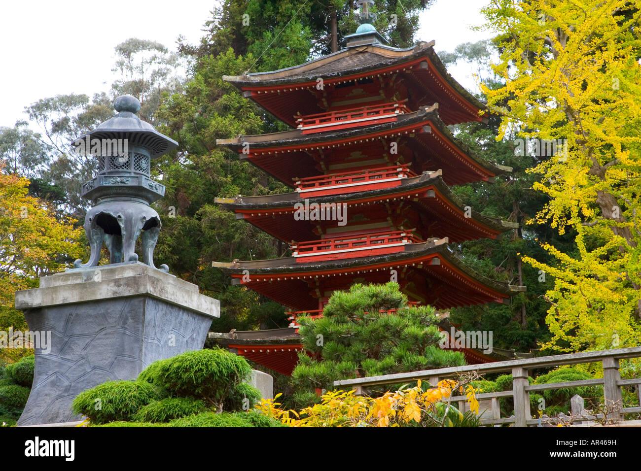 pagoda in the japanese gardens golden gate park san francisco california - Japanese Garden San Francisco