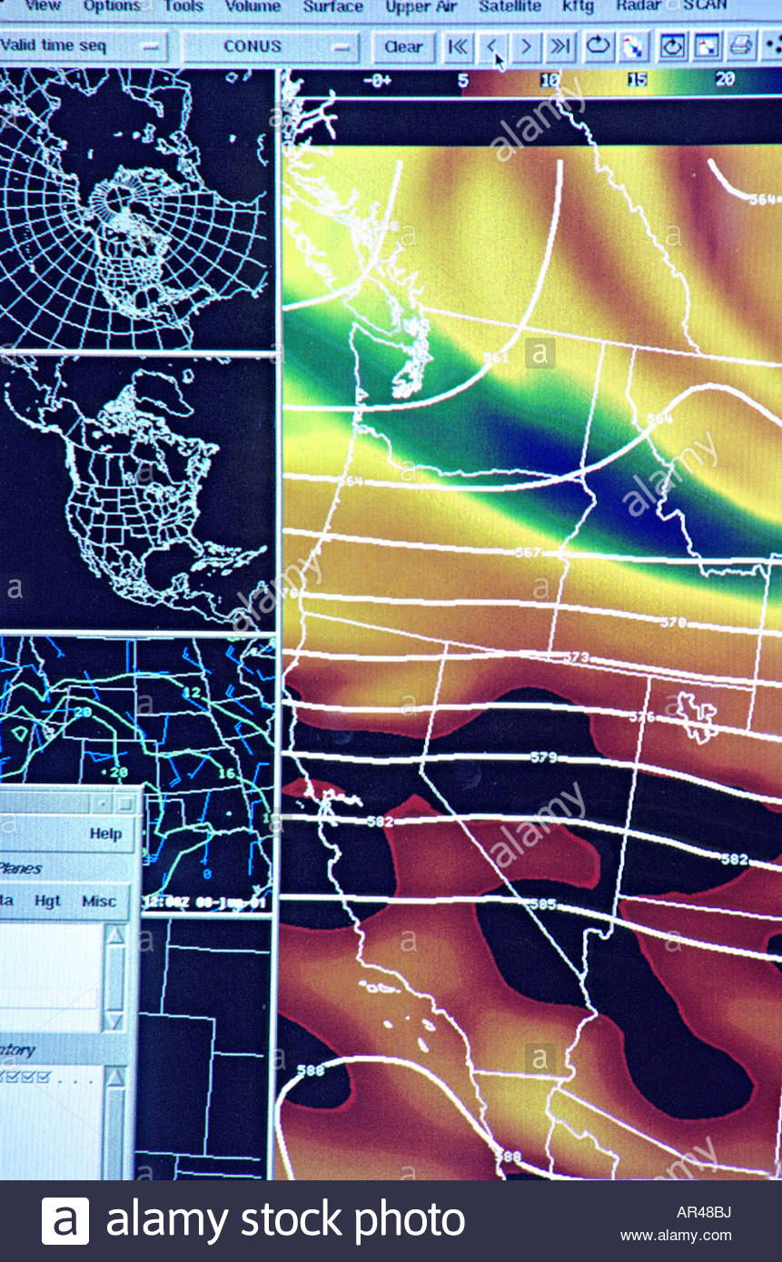 Computer Weather Map Noaa National Weather Service Boulder Colorado