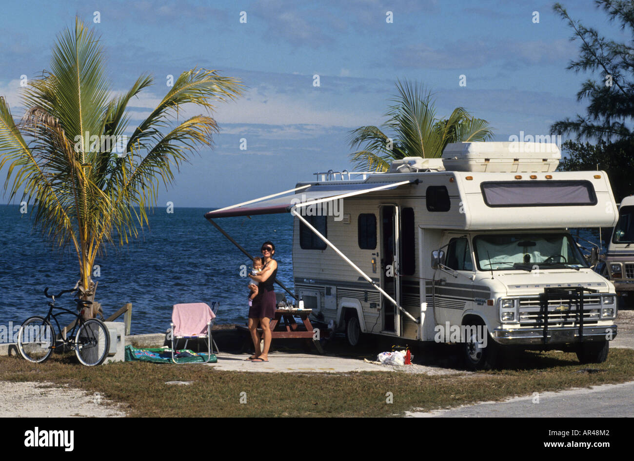 Usa United States Camping Site Caravan Park Stock Photo 9104961 Alamy