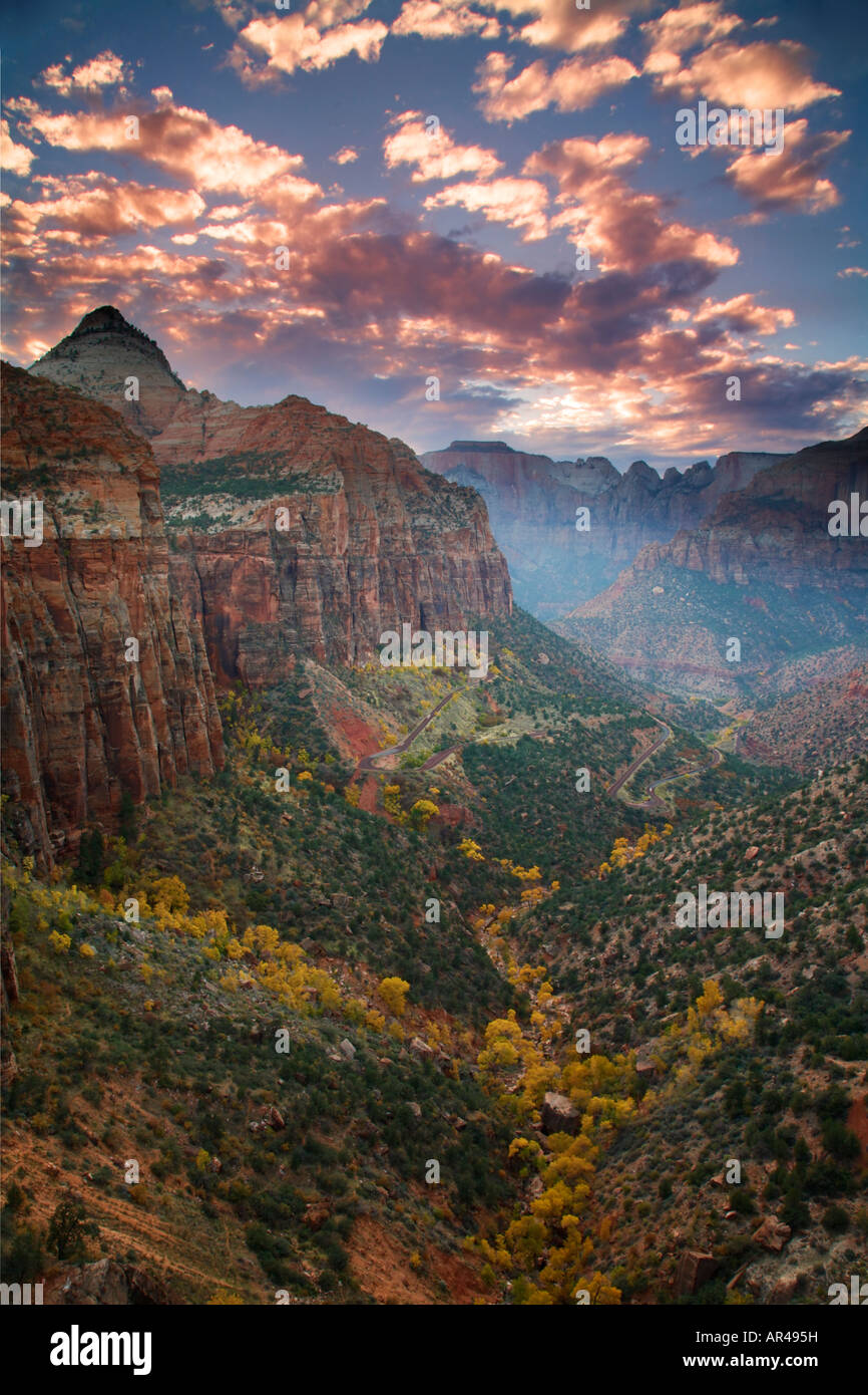 Canyon Overlook Zion National Park Utah - Stock Image
