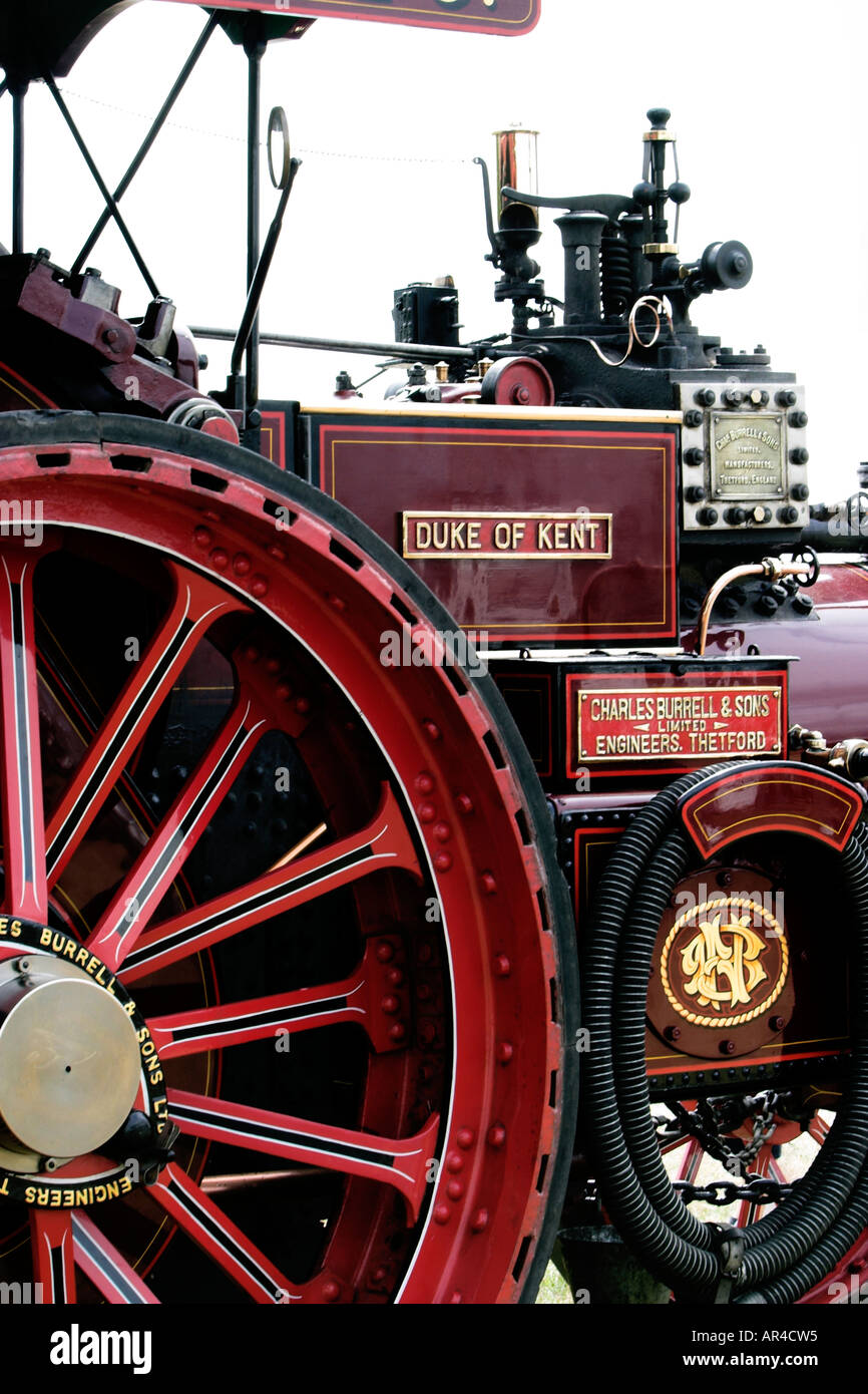 The beautiful Duke of Kent Steam traction engine built by Charles Burrell sons Thetford - Stock Image