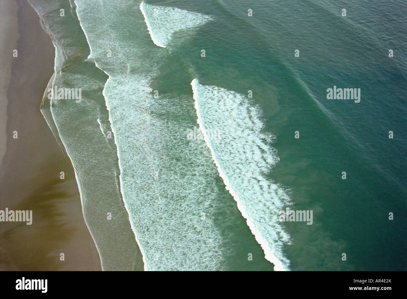 Aerial shot of a beach - Stock Image