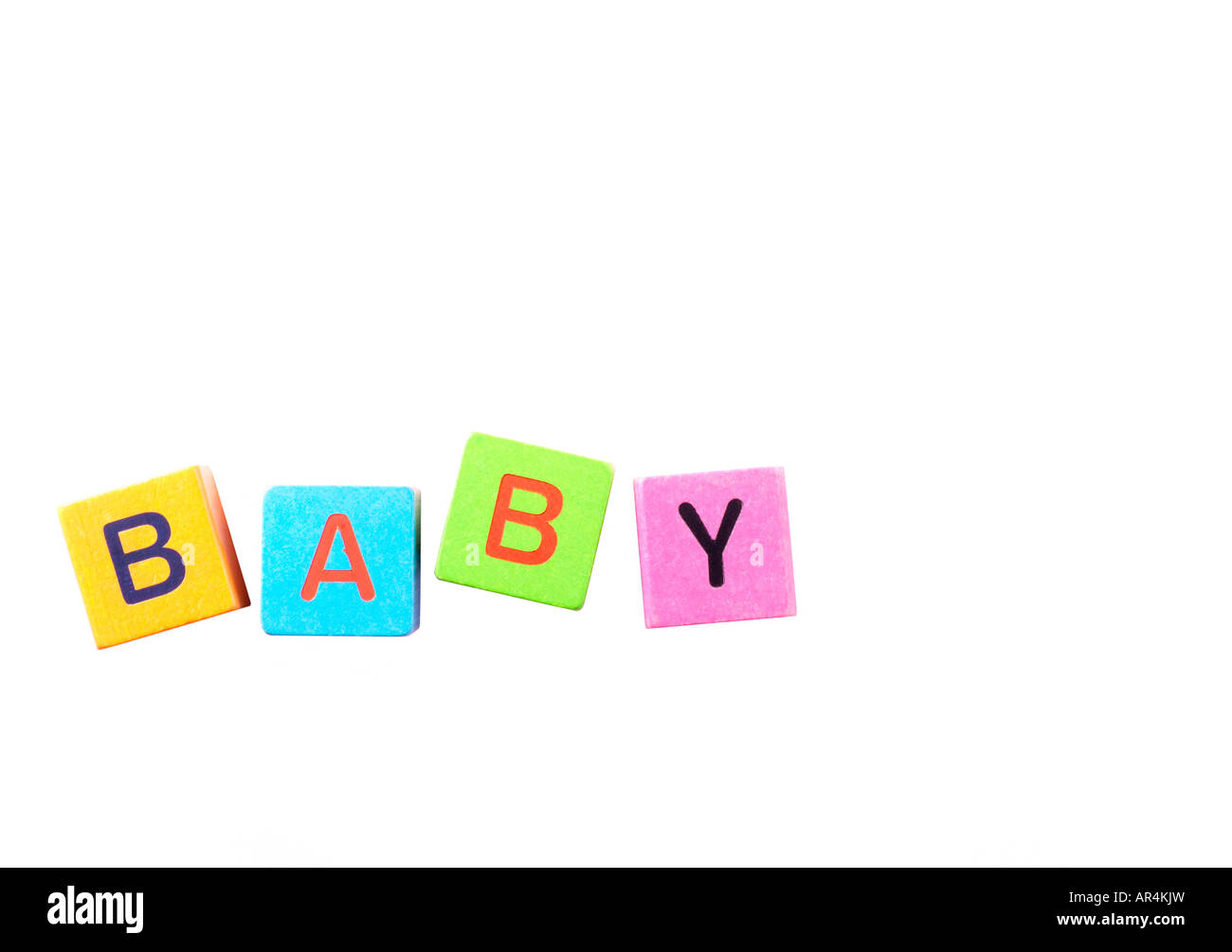 Building blocks spelling baby - Stock Image