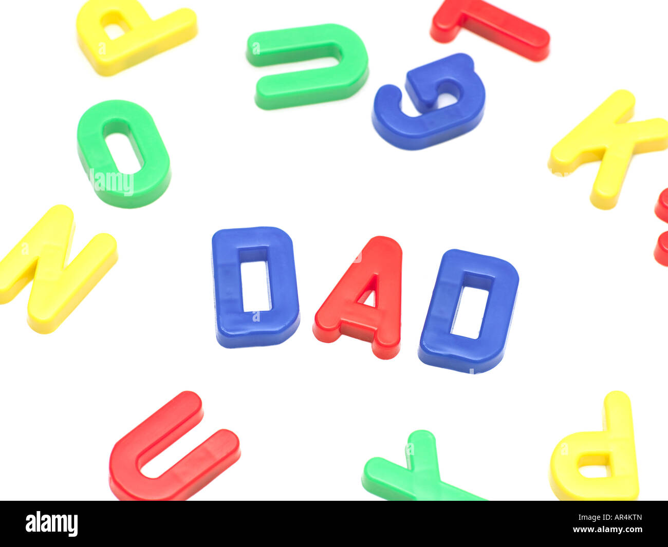 Letters spelling dad - Stock Image